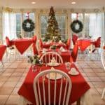 Holiday Dining Room Set Up