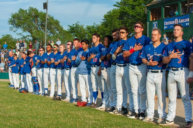 Chatham Anglers Team Observing National Anthem