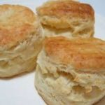 Three lightly golden baked homemade scones