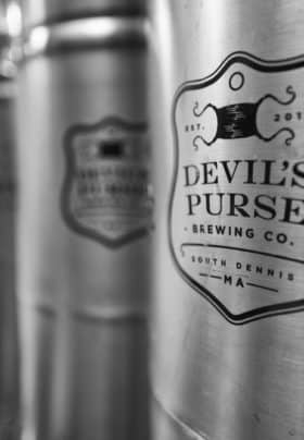 Silver beer cans from Devils Purse Brewing Co